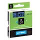 Картридж для принтеров этикеток DYMO D1, 9 мм х 7 м, лента пластиковая, чёрный шрифт, голубой фон