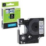 Картридж для принтеров этикеток DYMO D1, 12 мм х 7 м, лента пластиковая, голубой шрифт, белый фон
