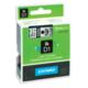 Картридж для принтеров этикеток DYMO D1, 19 мм х 7 м, лента пластиковая, чёрный шрифт, прозрачный фон