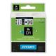 Картридж для принтеров этикеток DYMO D1, 24 мм х 7 м, лента пластиковая, чёрный шрифт, белый фон