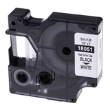 Картридж для принтеров этикеток DYMO Rhino, 6 мм х 1,5 м, термоусадочная трубка, черный шрифт, белая трубка