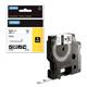 Картридж для принтеров этикеток DYMO Rhino, 9 мм х 1,5 м, термоусадочная трубка, черный шрифт, желтая трубка