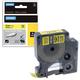 Картридж для принтеров этикеток DYMO Rhino, 12 мм х 1,5 м, термоусадочная трубка, черный шрифт, желтая трубка