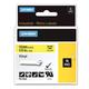 Картридж для принтеров этикеток DYMO Rhino, 12 мм х 5,5 м, лента виниловая, чёрный шрифт, желтая