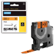 Картридж для принтеров этикеток DYMO Rhino, 12 мм х 5,5 м, лента виниловая, чёрный шрифт, оранжевая