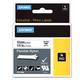 Картридж для принтеров этикеток DYMO Rhino, 12 мм х 3,5 м, лента нейлоновая, чёрный шрифт, неровная поверхность, белая