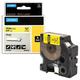 Картридж для принтеров этикеток DYMO Rhino, 19 мм х 5,5 м, лента виниловая, чёрный шрифт, желтая