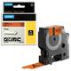 Картридж для принтеров этикеток DYMO Rhino, 19 мм х 5,5 м, лента виниловая, чёрный шрифт, оранжевая