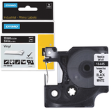 Картридж для принтеров этикеток DYMO Rhino, 19 мм х 5,5 м, лента виниловая, чёрный шрифт, белая