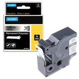 Картридж для принтеров этикеток DYMO Rhino, 19 мм х 5,5 м, лента полиэстерная, экстремальная температура, чёрный шрифт, металлик