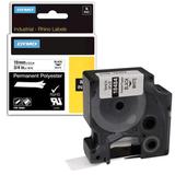 Картридж для принтеров этикеток DYMO Rhino, 19 мм х 5,5 м, лента полиэстерная, экстремальная температура, чёрный шрифт, белая