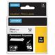 Картридж для принтеров этикеток DYMO Rhino, 24 мм х 5,5 м, лента полиэстерная, экстремальная температура, чёрный шрифт, белая
