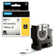 Картридж для принтеров этикеток DYMO Rhino, 24 мм х 5,5 м, лента виниловая, чёрный шрифт, белая