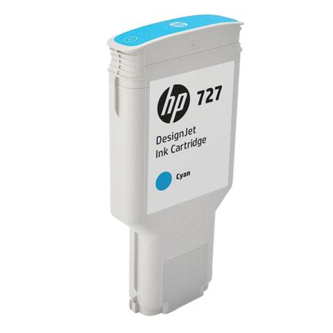 Картридж струйный для плоттера HP (F9J76A) DesignJet T1500/<wbr/>T920/<wbr/>T2500, №727, 300 мл, голубой, оригинальный