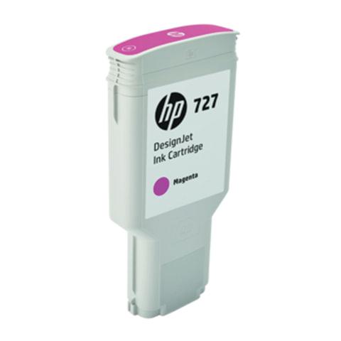 Картридж струйный для плоттера HP (F9J77A) DesignJet T1500/T920/T2500, №727, 300 мл, пурпурный, оригинальный