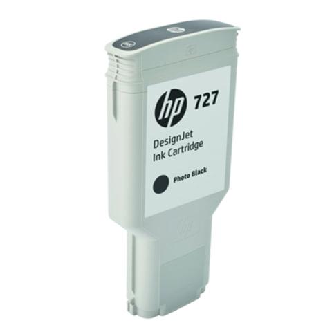 Картридж струйный для плоттера HP (F9J79A) DesignJet T1500/<wbr/>T920/<wbr/>T2500, №727, 300 мл, черный, оригинальный