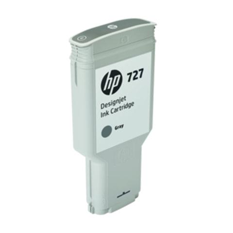 Картридж струйный для плоттера HP (F9J80A) DesignJet T1500/<wbr/>T920/<wbr/>T2500, №727, 300 мл, серый, оригинальный