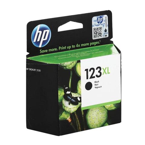 Картридж струйный HP (F6V19AE) Deskjet 2130, №123XL, чёрный, увеличенной ёмкости, оригинальный, ресурс 480 стр.