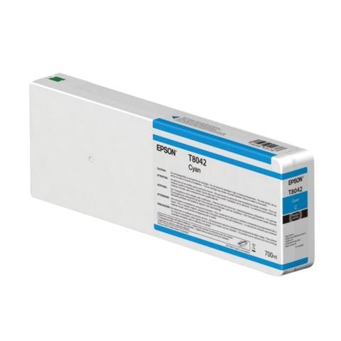 Картридж струйный для плоттера EPSON (C13T804200) SureColor SC-P6000, голубой, 700 мл, оригинальный
