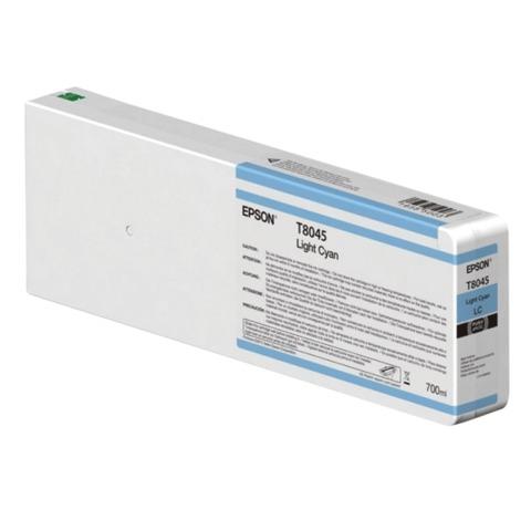 Картридж струйный для плоттера EPSON (C13T804500) SureColor SC-P6000, светло-голубой, 700 мл, оригинальный