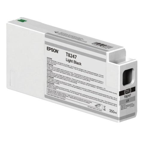 Картридж струйный для плоттера EPSON (C13T824700) SureColor SC-P6000, серый, 350 мл, оригинальный