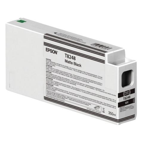 Картридж струйный для плоттера EPSON (C13T824800) SureColor SC-P6000, черный, для матовой бумаги, 350 мл, оригинальгный