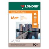 Фотобумага LOMOND для струйной печати, А3, 90 г/<wbr/>м<sup>2</sup>, 100 л., односторонняя, матовая