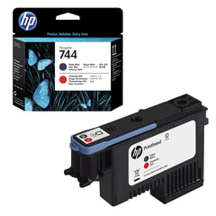 Головка печатающая для плоттера HP (F9J88A) Designjet Z2600/<wbr/>Z5600 №744 черный матовый/<wbr/>красный, оригинальный