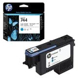 Головка печатающая для плоттера HP (F9J86A) Designjet Z2600/<wbr/>Z5600, №744, черный фото/<wbr/>голубой, оригинальный
