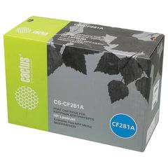 Картридж лазерный CACTUS (CS-CF281A) для HP LaserJet M604n/<wbr/>M604dn/<wbr/>M605/<wbr/>M606/<wbr/>M630, ресурс 10500 стр.