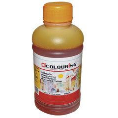 Чернила CANON / EPSON / HP / LEXMARK универсальные, желтый, 0,25 л, водные, COLOURING, СОВМЕСТИМЫЕ