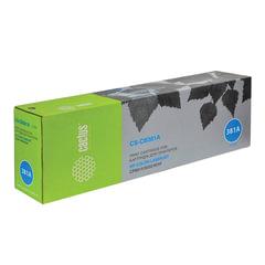 Картридж лазерный HP (CB381A) ColorLaserJet CM6040/<wbr/>CM6030/<wbr/>CP6015, голубой, ресурс 21000 стр., CACTUS, совместимый