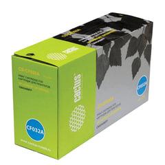 Картридж лазерный CACTUS (CS-CF032A) для HP ColorLaserJet CM4540, желтый, ресурс 12500 стр.