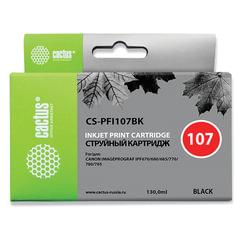 Картридж струйный CANON (PFI-107BK) PF680/<wbr/>685/<wbr/>780/<wbr/>785, черный, 130 мл, CACTUS совместимый