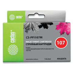 Картридж струйный CANON (PFI-107M) iPF680/<wbr/>685/<wbr/>780/<wbr/>785, пурпурный, 130 мл, CACTUS совместимый
