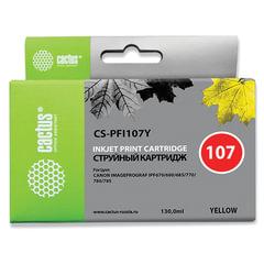 Картридж струйный CANON (PFI-107Y) iPF680/<wbr/>685/<wbr/>780/<wbr/>785, желтый, 130 мл, CACTUS совместимый