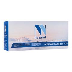 Картридж лазерный HP/<wbr/>CANON (CE278A/<wbr/>728) LJ P1566/<wbr/>P1606/ MF4410/<wbr/>4430, ресурс 2100 стр., NV PRINT, совместимый