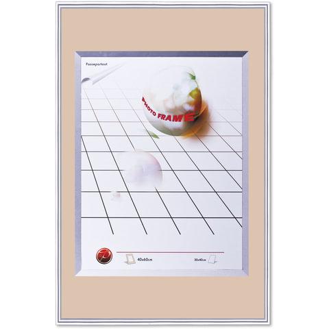 Рамка бизнес-класса, 40×60 см, пластик, серебро (для студийных и оформительских работ)