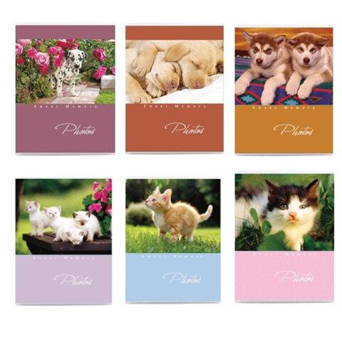 Фотоальбом BRAUBERG на 36 фото 10х15 см, мягкая обложка, котята/щенки, ассорти
