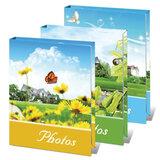 Фотоальбом BRAUBERG (БРАУБЕРГ) на 36 фотографий 10×15 см, твердая обложка, летний пейзаж, ассорти