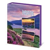 Фотоальбом BRAUBERG (БРАУБЕРГ) на 100 фотографий 10×15 см, твердая обложка, горный вид
