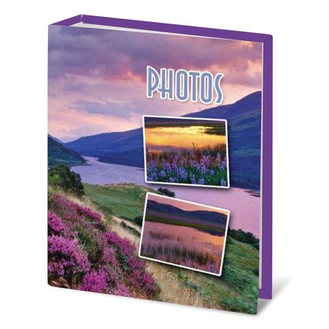 Фотоальбом BRAUBERG на 100 фотографий 10×15 см, твердая обложка, горный вид