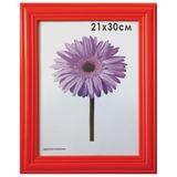 Рамка премиум 21×30 см, «Linda», дерево, красная (для дипломов, сертификатов, грамот, фотографий)