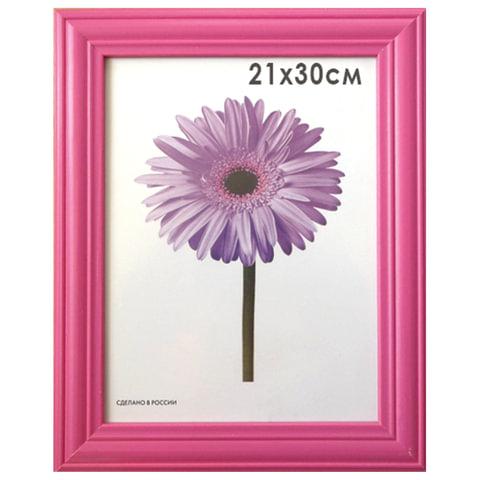 Рамка премиум 21×30 см, «Linda», дерево, малиновая (для дипломов, сертификатов, грамот, фотографий)