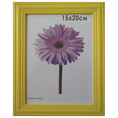 Рамка премиум 15×20 см, дерево, багет 26 мм, «Linda», желтая, подставка