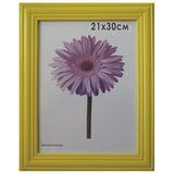 Рамка премиум 21×30 см, «Linda», дерево, желтая (для дипломов, сертификатов, грамот, фотографий)