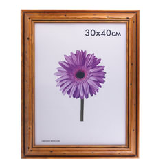 Рамка премиум 30×40 см, дерево, багет 44 мм, «Sabrina», коричневая