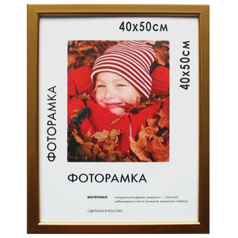 """Рамка премиум 40х50 см, пластик, багет 13 мм, """"Maria"""", золото"""