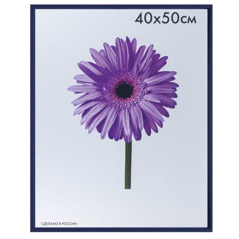 Рамка премиум 40×50 см, «Maria», пластик, синяя (для студийных и оформительских работ)