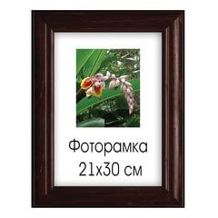 Рамка премиум 21×30 см, дерево, багет 38 мм, «Diana», темно-коричневая